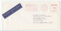 Germany, West 1977 Airmail Cover Nürnberg To Troy Michigan, Meter - [7] Federal Republic