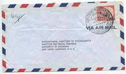 Germany, West 1956 Airmail Cover Traben-Trarbach To Ann Arbor MI, Scott 717 Heuss - [7] Federal Republic