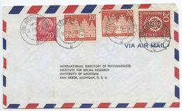 Germany, West 1956 Airmail Cover Aschaffenburg To U.S., Scott 710, 741, 9N141 - [7] Federal Republic