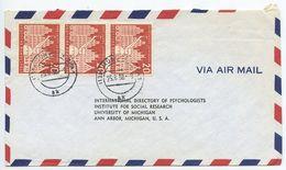 Germany, West 1956 Airmail Cover Munich To U.S., Scott 741 Lüneburg X 3 - [7] Federal Republic