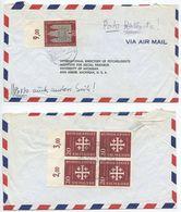 Germany, West 1956 Airmail Cover Schwäbisch Gmünd To U.S., Scott 747 & 745 X 4 - [7] Federal Republic
