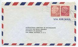 Germany, West 1956 Airmail Cover Frnkfurt To U.S., Scott 710, 717 Heuss - [7] Federal Republic