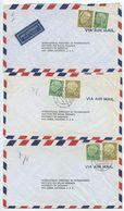 Germany, West 1956 3 Airmail Covers Tübingen, Erlangen, Hannover, Scott 708 & 716 Heuss - [7] Federal Republic