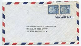 Germany, West 1956 Airmail Cover To U.S., Scott 756 Heuss, Pair - [7] Federal Republic