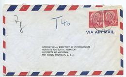 Germany, West 1956 Airmail Cover Gelsenkirchen To U.S., Scott 710 X 2 Heuss - [7] Federal Republic