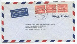 Germany, Berlin 1956 Airmail Cover To U.S., Scott 9N102 Olympic Stadium - Covers & Documents