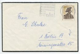 Germany, Berlin 1967 Mourning Cover, Scott 9N256 - Young Man By Conrad Meit - [5] Berlin