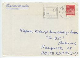 Germany, Berlin 1968 Cover To Amsterdam Netherlands, Scott 9N253 Brandenburg Gate - Covers & Documents