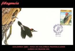 AMERICA. COLOMBIA SPD-FDC. 1985 FAUNA. AVES COLOMBIANAS. PÁJARO CARPINTERO - Colombie