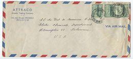 Belgium 1947 Airmail Cover Sint-Joost-ten-Noode To U.S., Scott 369 Steamship X 3 - Covers & Documents