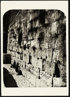 Jerusalem  -  The Wailing Wall  -  Photogeph By P. Bergheim 1865  -  Ansichtskarte Ca. 1965    (10490) - Israel