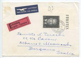 Liechtenstein 1971 Airmail Special Delivery Cover Vaduz To Albano Italy, Scott 473 - Liechtenstein