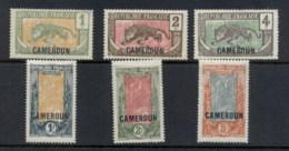 Cameroun 1921 Opts On Middle Congo Asst MLH/MNG - Cameroun (1915-1959)