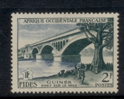 French West Africa 1956 FIDES 2f Milo Bridge MLH - Unclassified