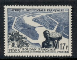 French West Africa 1956 FIDES 17f Woman & Niger River MUH - Unclassified