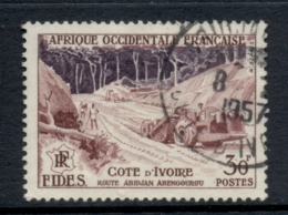 French West Africa 1956 FIDES 30f Road Construction FU - Unclassified