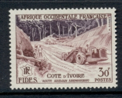 French West Africa 1956 FIDES 30f Road Construction MUH - Unclassified