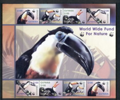Guyana 2003 WWF Birds, Toucan MS MUH - Guyane (1966-...)