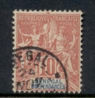 Senegal 1892-1900 Navigation & Commerce 10c FU - Senegal (1960-...)