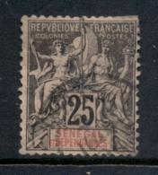 Senegal 1892-1900 Navigation & Commerce 25c (thin) FU - Senegal (1960-...)