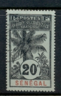 Senegal 1906-07 Oil Palms 20c FU - Senegal (1960-...)