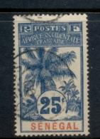 Senegal 1906-07 Oil Palms 25c FU - Senegal (1960-...)