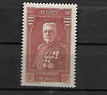 Monaco 1937 Prince Louis II  Cat Yt N°139 N* MLH - Unused Stamps