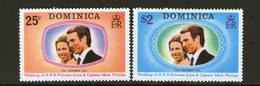 DOMINICA, 1973 ROYAL WEDDING 2 MNH - Dominica (...-1978)