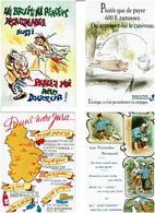 HUMOUR /  Lot De 45 Cartes Postales Modernes écrites - Cartes Postales