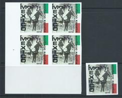 Mexico Zapata On Horseback Protest Cinderella Stamps / Labels Single & Block Of 4 MNH (NGAsIssued) - Mexico
