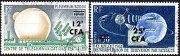 """Réunion Obl. N° 355 Et 356 - Site - Pleumeur Bodou Et Telstar"""" Télécommunications Spatiales """" - Réunion (1852-1975)"""
