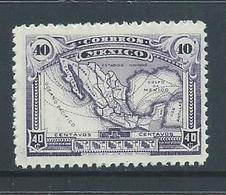 Mexico 1917 40c Violet Map MNH - Mexiko