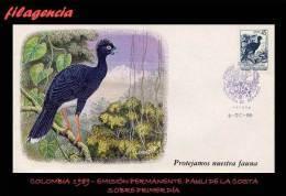 AMERICA. COLOMBIA SPD-FDC. 1989 EMISIÓN PERMANENTE. FAUNA. COLOMBIANA. PAULI DE LA COSTA - Colombie
