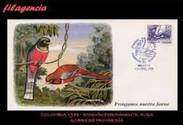 AMERICA. COLOMBIA SPD-FDC. 1989 EMISIÓN PERMANENTE. FAUNA COLOMBIANA. SOLEDAD ENMASCARADA - Colombie