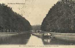 SAINT MAURICE  Le Canal De Saint Maur à Gravelle Péniche RV - Saint Maurice