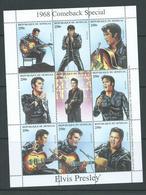 Senegal 1998 Elvis Presley Sheet Of 9 MNH - Senegal (1960-...)