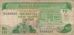 Ile Maurice - Billet De 10 Rupees - Non Daté - Maurice