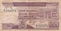 Ile Maurice - Billet De 5 Rupees - Non Daté - Maurice