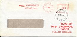 Greenland Cover With Meter Cancel Godthab 12-10-1989 (Deres Slagter, Köbmand, Bager) - Greenland