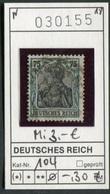 Deutsches Reich - Deutschland - Germany - Allemagne - Michel 104 - Oo Oblit. Used Gebruikt - Deutschland