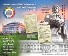 Romania 2019 / 200 YEARS UNIVERSITY POLITEHNICA BUCURESTI / S/S - Other