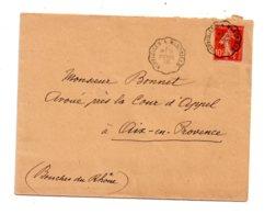 Affranchissement Sur Enveloppe 1916-Semeuse - Voir état - Postmark Collection (Covers)
