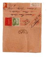 Affranchissement Sur Carte Lettre 1933 - Voir état - Postmark Collection (Covers)