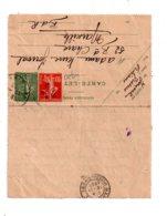 Affranchissement Sur Carte Lettre 1920 - Voir état - Marcophilie (Lettres)