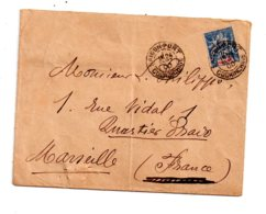 Affranchissement Sur Enveloppe -Saigon -Cochinchine - Voir état - Cochinchine (1886-1887)