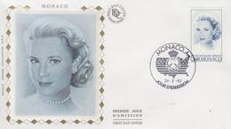 Enveloppe  FDC   1er  Jour   MONACO   Grace   KELLY     Emission  Commune  Avec  Les  U.S.A    1993 - Joint Issues