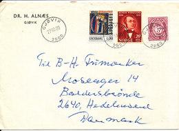 Norway Cover Sent To Denmark Gjövik 27-10-1980 (Dr. H. Alnaes) - Norway