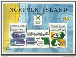 Norfolk Island - 1988 Sydpex 88 S/sheet  MNH  **   SG MS447   Sc 439a - Norfolk Island