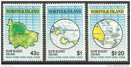 Norfolk Island - 1991 Ham Radio Network  MNH  **   SG 509-11  Sc 501-3 - Norfolk Island