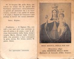 """08260 """"MIRACOLOSA EFFIGE DELLA MADONNA DELLA ROSA - SANTUARIO DI CERESOLE D'ALBA (CN)"""" IMM. RELIG. ORIG. - Santini"""